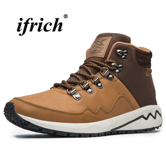 Man Hiking Shoes Plus Size 41-46 High Top Sneakers for Male Rubber Sole Climbing Boots Man Autumn Winter Camping Boots