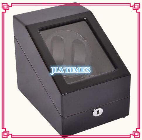 High Quality 2+3 Black+Black Watch Winder Wood Case Box Carbon Fiber PU