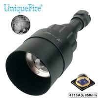 Işıklar ve Aydınlatma'ten LED Fenerler'de UniqueFire 1605 IR 850nm 4715AS LED el feneri 5 Watt 75mm lens 3 Modu Gece Görüş torch Zumlanabilir USB Şarj Edilebilir avcılık
