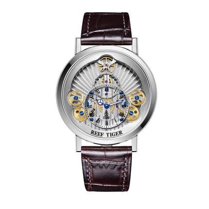 Reef Tiger Artist Serier RGA1958 Men Fashion Dial Business Waterproof Fashion Leather Strap Quartz Wrist Watch