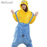 Anime Pajama Minions Cosplay Costume For Women Movie Cartoon Sleepwear Suit Carnival Party Show Jumpsuits