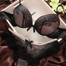 Sexy Underwear Women Bra Set Lingerie Set Luxurious Vintage Lace Embroidery Push Up Bra And Panty Set 6 Colors