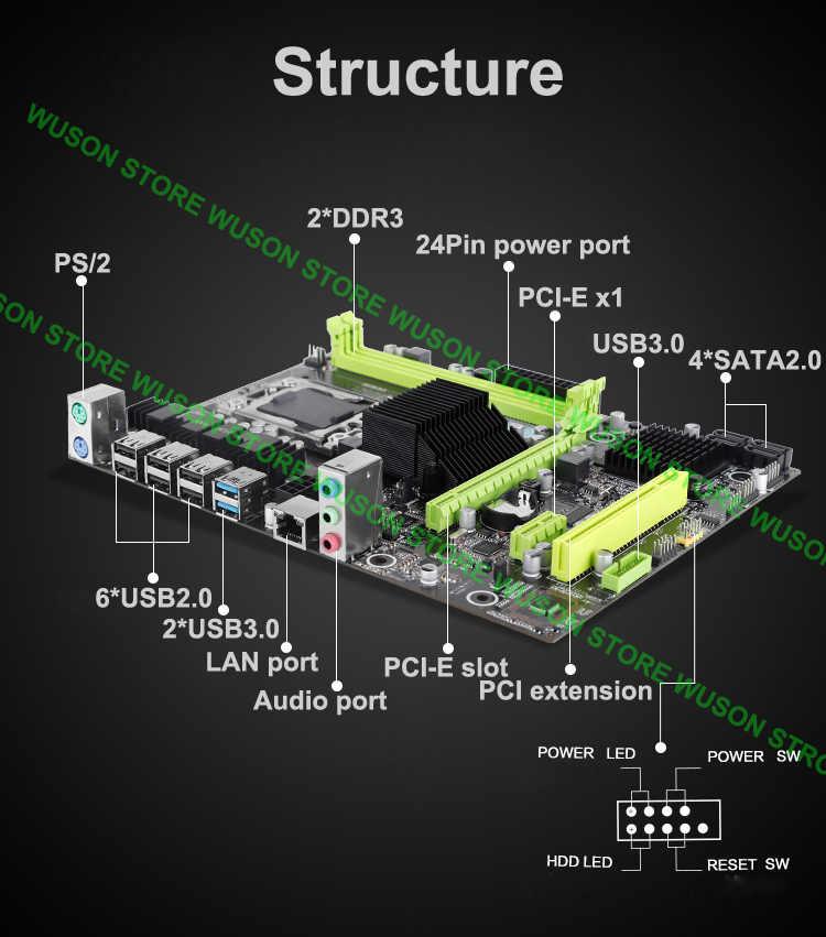 Сборка ПК HUANAN ZHI X58 LGA1366 материнская плата со скидкой материнская плата с ЦПУ Intel Xeon E5649 2,53 ГГц ram 16G (2*8G)