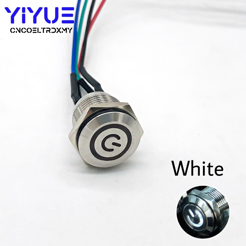 16MM with LED light 5V Metal Push Button Switch (9)