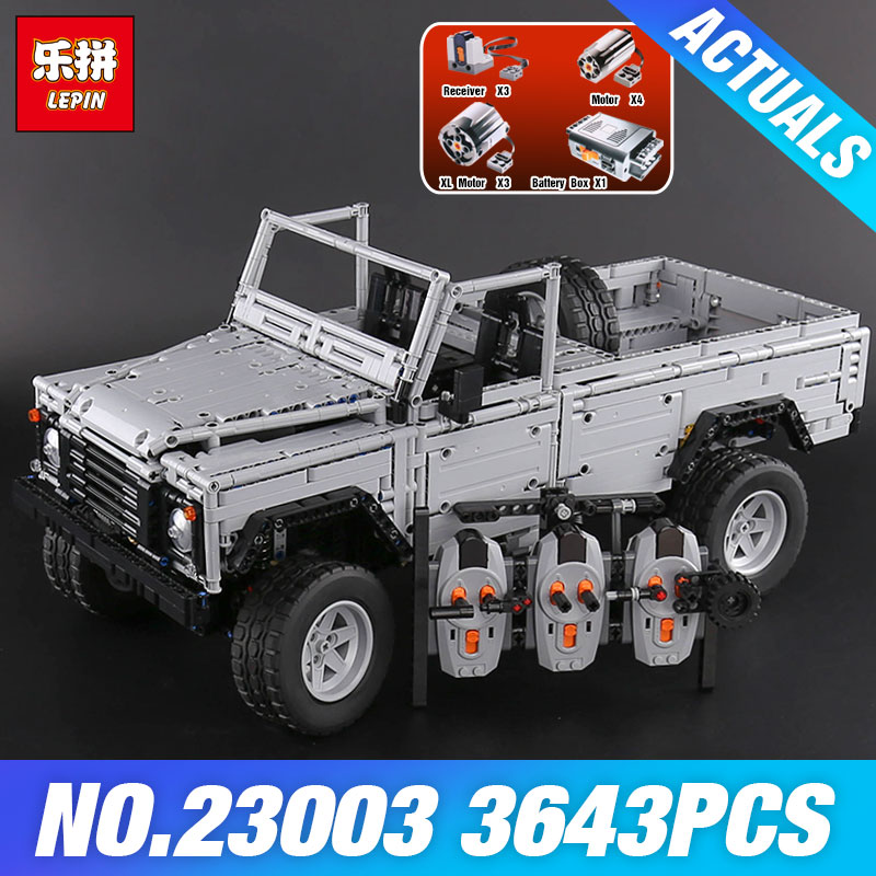 Lepin 23003 New 3643Pcs Technic series MOC Remote-Control Wild off-road vehicles model Building Blocks Bricks toys for Children lepin 20011 technic series super classic limited edition of off road vehicles model building blocks bricks compatible 41999 gift