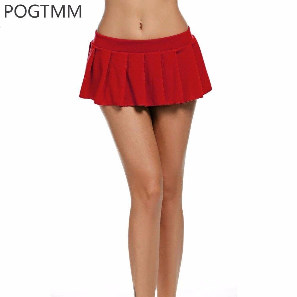 Sexy Colegiala Micro Mini Falda Mujer Verano Corto Tutú