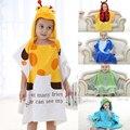 Estación de kid 0-6 años de algodón con capucha animal modelado bebé albornoz niños albornoz de la historieta de dibujos animados bebé towel niño spa toallas