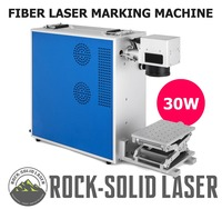 Portable 30W Fiber Laser Marking Machine Laser Marker with Z Axis Worktable Laser Engraving Machine For Metal Plastic Wholesale