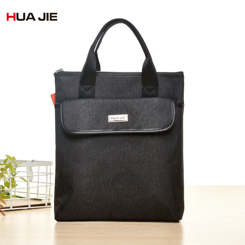 Portable Simple Zipper Financial Business Briefcase Document Bag Paper Storage Organizer Filing Products Student Gifts EN4314