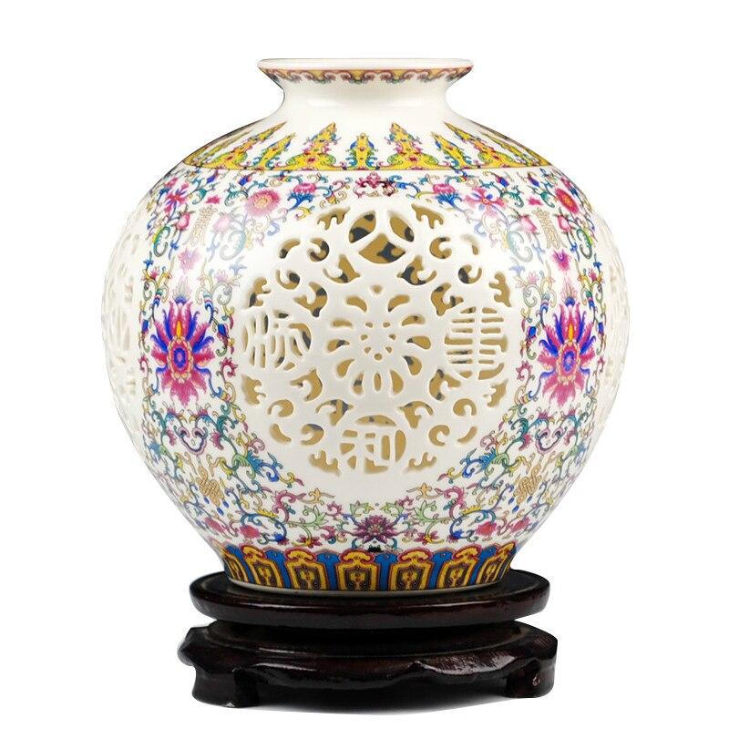 Vasen Streng Antiken Keramik Durchbohrte Vase Vorzügliche Hohle Granatapfel Vase Haushaltsverzierung Handwerk Einrichtungsartikel Noch Nicht VulgäR