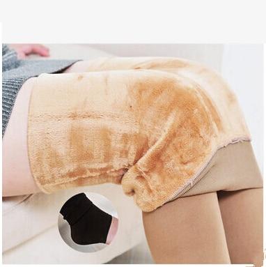 CUHAKCI леггинсы, зимние Бархатные леггинсы, плюс кашемировые леггинсы, женские повседневные теплые трикотажные леггинсы, плотные тонкие супер эластичные штаны - Цвет: K018 Skin