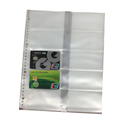 A4 30holes Loose Leaf  Cards Collection Cases Clear Bag Sheets Protectors