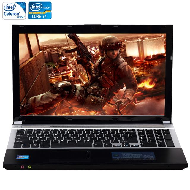 Zeuslap 15.6 дюйма Intel Core i7 или Intel Celeron Процессор 8 ГБ Оперативная память + 750 ГБ HDD Встроенный WI-FI Bluetooth DVD-ROM ноутбука Тетрадь компьютер