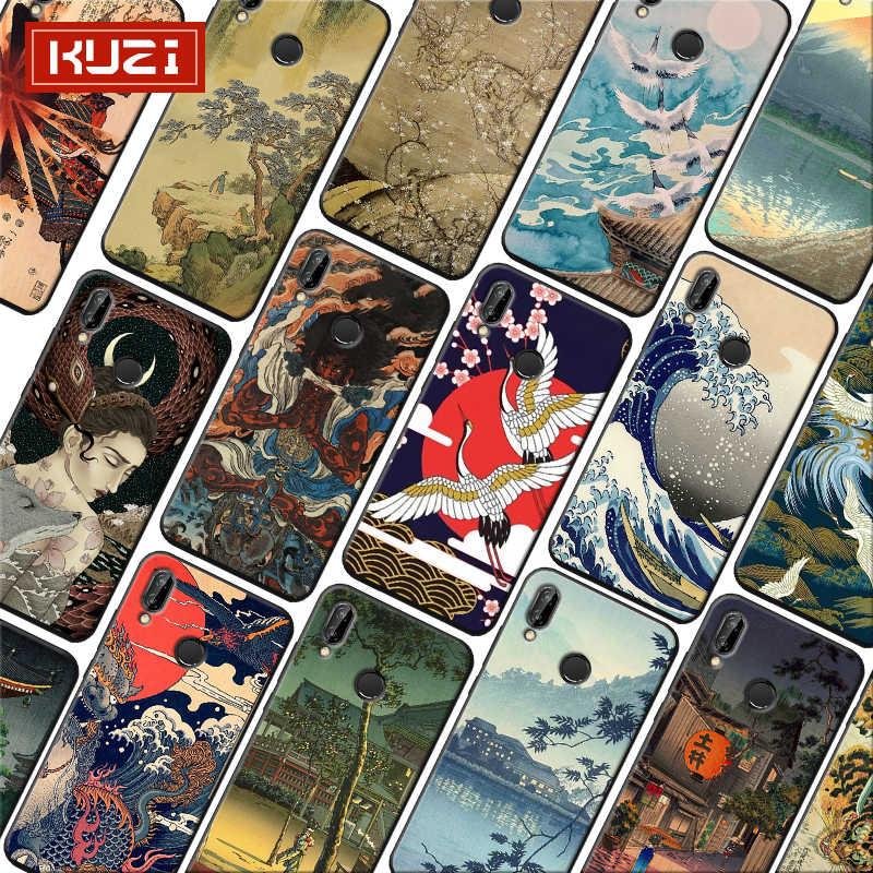 יפני סגנון אמנות יפן מנוף Fuji הר רך סיליקון טלפון מקרה עבור xiaomi redmi note 7 k20 פרו 7 הערה 5 6 4x 7a