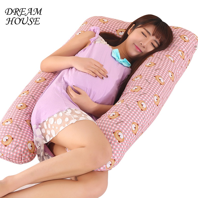 U-shape Pillow Multi-functional Pregnancy Pillow Pregnant Women Side Sleeper pillow Pillowcase Removable Pregnancy Pillow nbsanminse cylinder pneumatic parts durability sda series with magnet 20mm bore size compact cylinder airtac type double acting