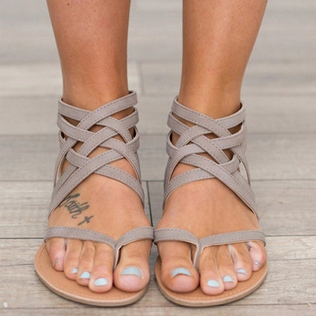 6ea45694319 2018 fashion Women sandals new summer sandals for women casual flat sandals  Gladiator shoes woman big size 35~42