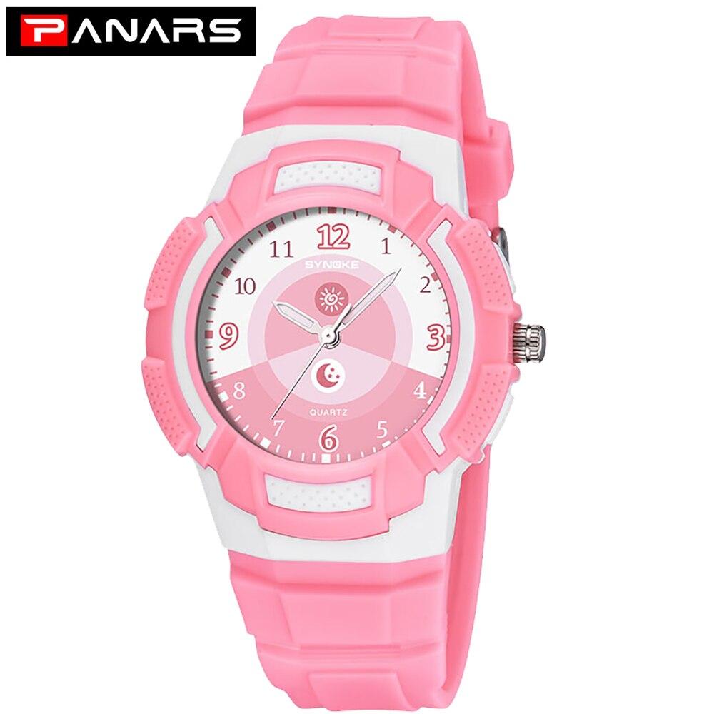 PANARS Children's Watch Fashion Waterproof Quartz Wristwatches Date Sports Watch Clock Birthday Gifts For Boys Girls Kids