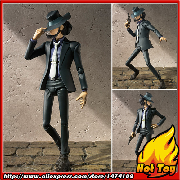100% Original BANDAI Tamashii Nations S.H.Figuarts (SHF) Exclusive Action Figure - Daisuke Jigen from Lupin the 3rd 100% original bandai tamashii nations s h figuarts shf exclusive action figure garo leon kokuin ver from garo