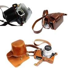 Роскошный кожаный pu чехол для фотокамеры чехол для olympus em10 omd em10 ii mark ii (14-42 мм Объектив) откройте батарейный отсек С Ремешком