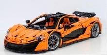 In Stock Lepin 20087 Technic the MOC-16915 P1 Orange Super Racing Car McLareninglys Building Blocks Hypercar Set Children Toys
