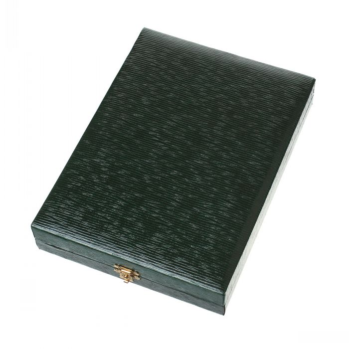 New Velvet Jewelry Gift Boxes Cases Rectangle Dark green 19.5cm x 14.5cm x 3.5cm,1Pc