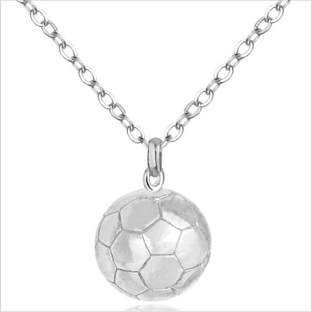 3d football pendant necklace for women silvergold color charms 3d football pendant necklace for women silvergold color charms sweater collar choker necklace female aloadofball Image collections