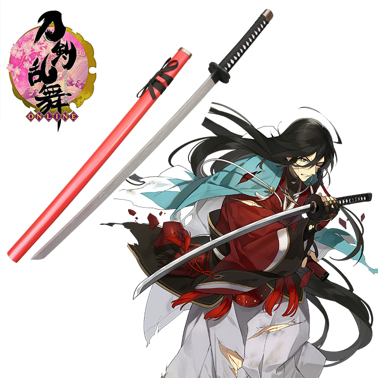 Free Shipping Touken Ranbu Online Izuminokamikanesada Wooden Sword Game Cosplay Weapons