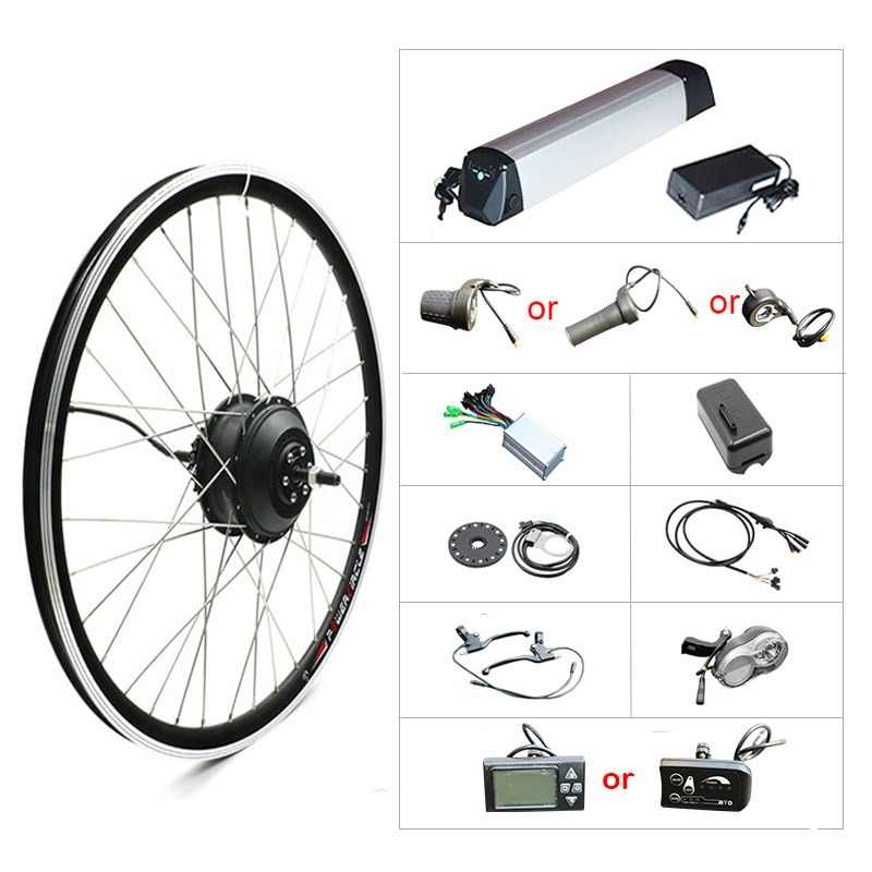 "36V 250W - 500W Electric Bike Kit for 20"" 26"" 700C Wheel Motor Kettle Battery LED LCD Ebike e bike Electric Bike Conversion Kit"