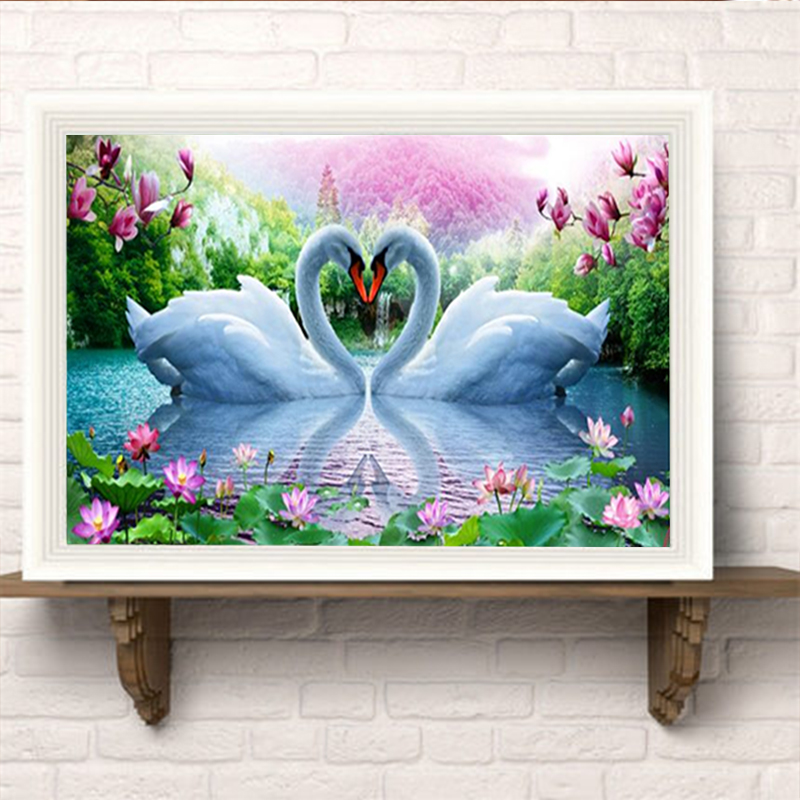 YIKEXIN 5D Diamond Painting Animal Swan Cross Stitch