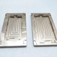 2 teile/satz Für TBK518 Aluminium Form Für iPhone 7 7plus Laminator Form Metall Für Die Front Glas Mit Rahmen lage Für OCA Benutzer