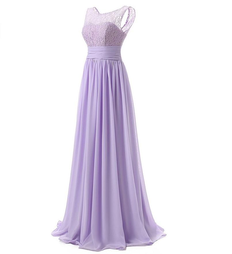 21 Colors Lace Sleeveless Long Bridesmaid Dress