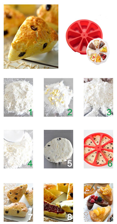 烤盘模具蛋糕盘硅胶蛋糕模布丁三角蛋糕模松饼烘焙工具方旦糖蛋糕模6