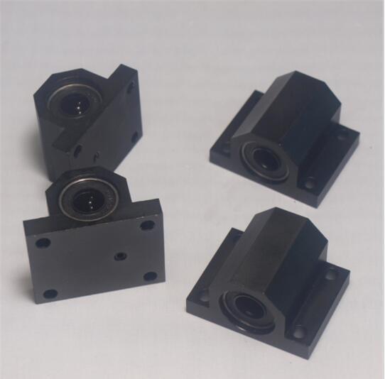 Funssor 4 pcs Lulzbot TAZ 3D printer upgrade metal aluminum alloy bed frame Y axis table bed frame bearing holder kit