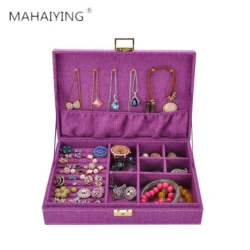 Velours voyage bijoux emballage boîte boucles d'oreilles affichage étui de transport cosmétique maquillage organisateur anneaux organisateur bijoux cercueil