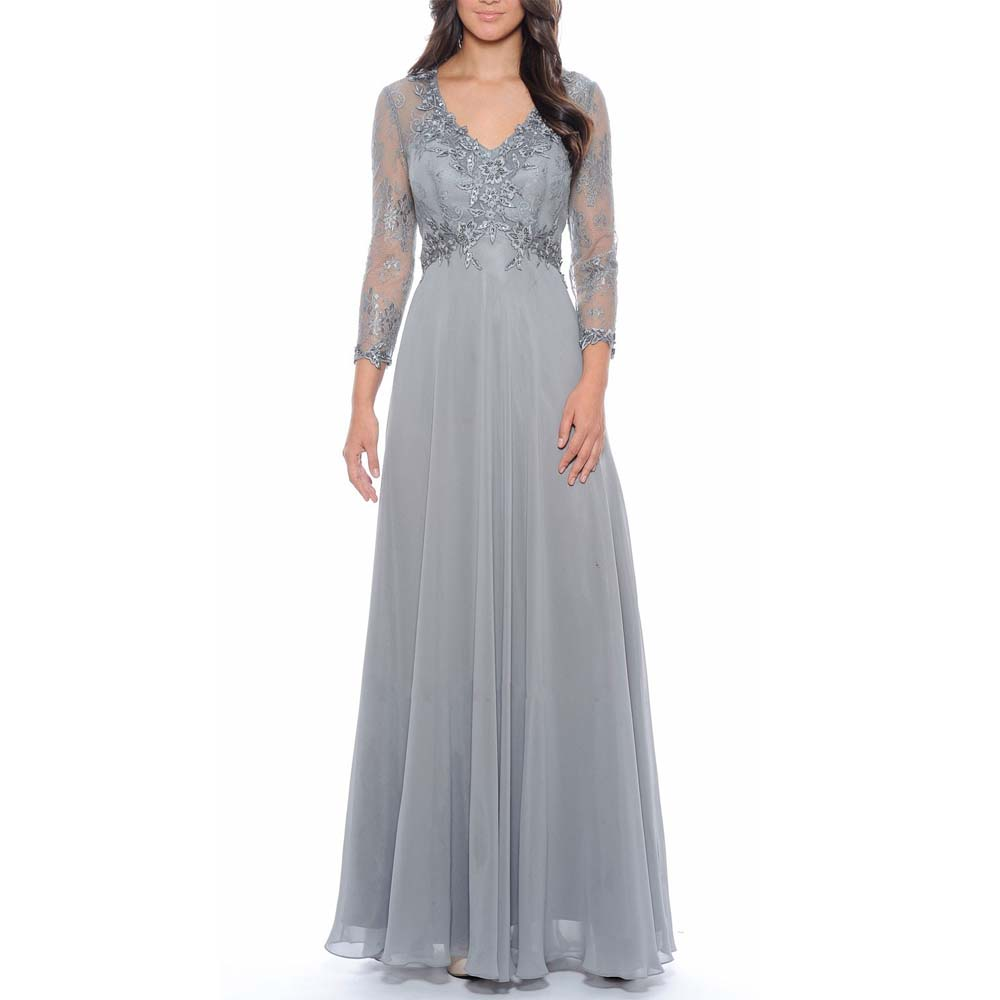 Gray Mother Of The Bride Dresse Plus Size Wedding Evening
