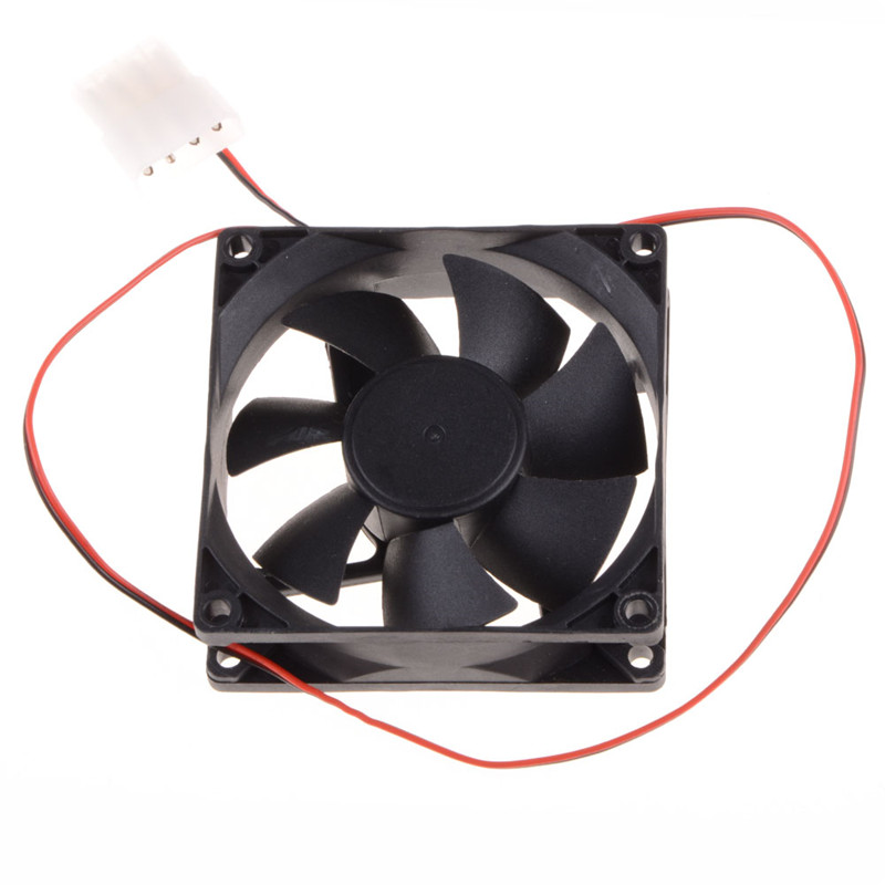 80*80*25 MM Personal Computer Case Cooling Fan DC 12V 2200RPM 45CM Fan Cable PC Case Cooler Fans Computer Fans aigo c3 c5 fan pc computer case cooler cooling fan led 120 mm fans mute rgb case fans
