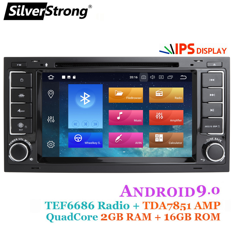 SilverStrong Android9 0 8Core 1024 600 Car DVD for VolksWagenRadio Transporter T5 with option 4core 16G