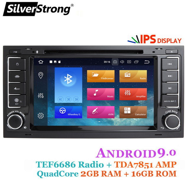 SilverStrong Android9.0 8Core 1024*600 Car DVD for VolksWagenRadio Transporter T5 with option 4core 16G TPMS DAB+