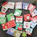 12 шт./упак. Рождественские Мини-открытки с конвертами  открытка с надписью на день рождения  подарочная карта 7*7 см