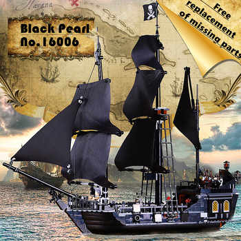16006 Movies Pirates of the Caribbean The Black Pearl Building Blocks Toys compatible with 4184 Pirates Ship Kids gifts - DISCOUNT ITEM  20% OFF All Category