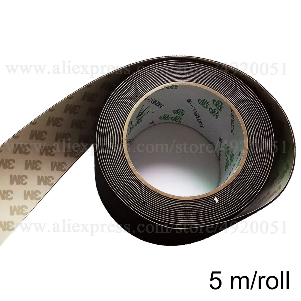 5M Roll Black Felt Tape For Squeegee With Self Adhesive Glue Replacement Fabric Felt Edge For