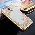Soft tpu de silicona de silicona transparente Claro diamante del teléfono volver cubierta de coque case para xiaomi redmi 3 s nota 3 pro redmi 4 pro case