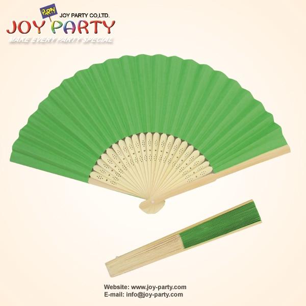 10pcs / lot 21cm 녹색 종이 핸드 팬 웨딩 파티 장식 승진 호의