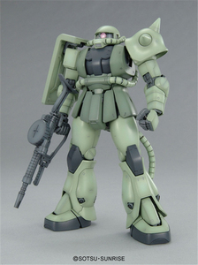 Image 2 - Bandai Gundam MG 1/100 MS 06F Zaku II Ver.2.0 Mobile Suit Assemble Model Kits Action Figures Plastic Model Toys