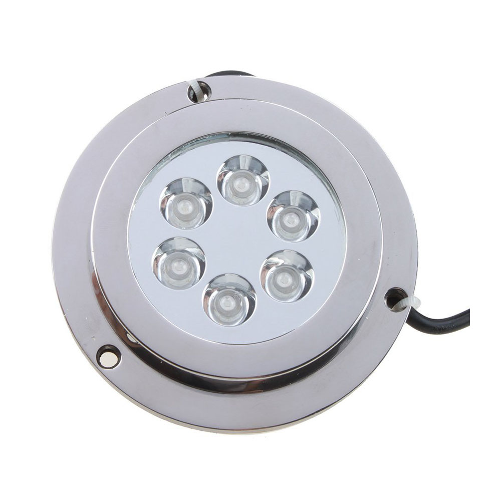 WSFS Hot 6*2w Blue Stainless Steel IP68 Waterproof LED Marine Underwater Light Boat Yacht light
