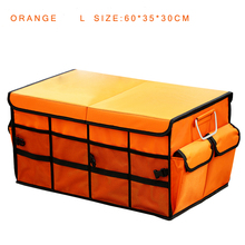 E-FOUR SUPER CAPACITY Trunk Storage Box 66 Liter Large Waterproof Oxford Cover Car Rear Accessory Stowing Case Fold or Half