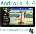 Nueva 7 pulgadas de Coches de Navegación GPS Android 4.4 Bluetooth Cámara trasera camión gps navigator Navitel/Europa mapa sat nav