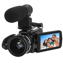 Discount! Digital Video Camera Full HD 1080P Portable Camcorder 24MP IR Night Vision 16X Digital Zoom 3 Inch LCD Video WiFi Camcorder Sale