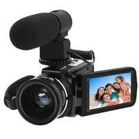 Digital Video Camera Full HD 1080P Portable Camcorder 24MP IR Night Vision Recorder 16X Digital Zoom
