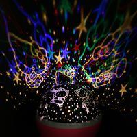 Romantic Rotating Spin Night Light Projector Children Kids Baby Sleep Lighting Sky Star Master USB Lamp
